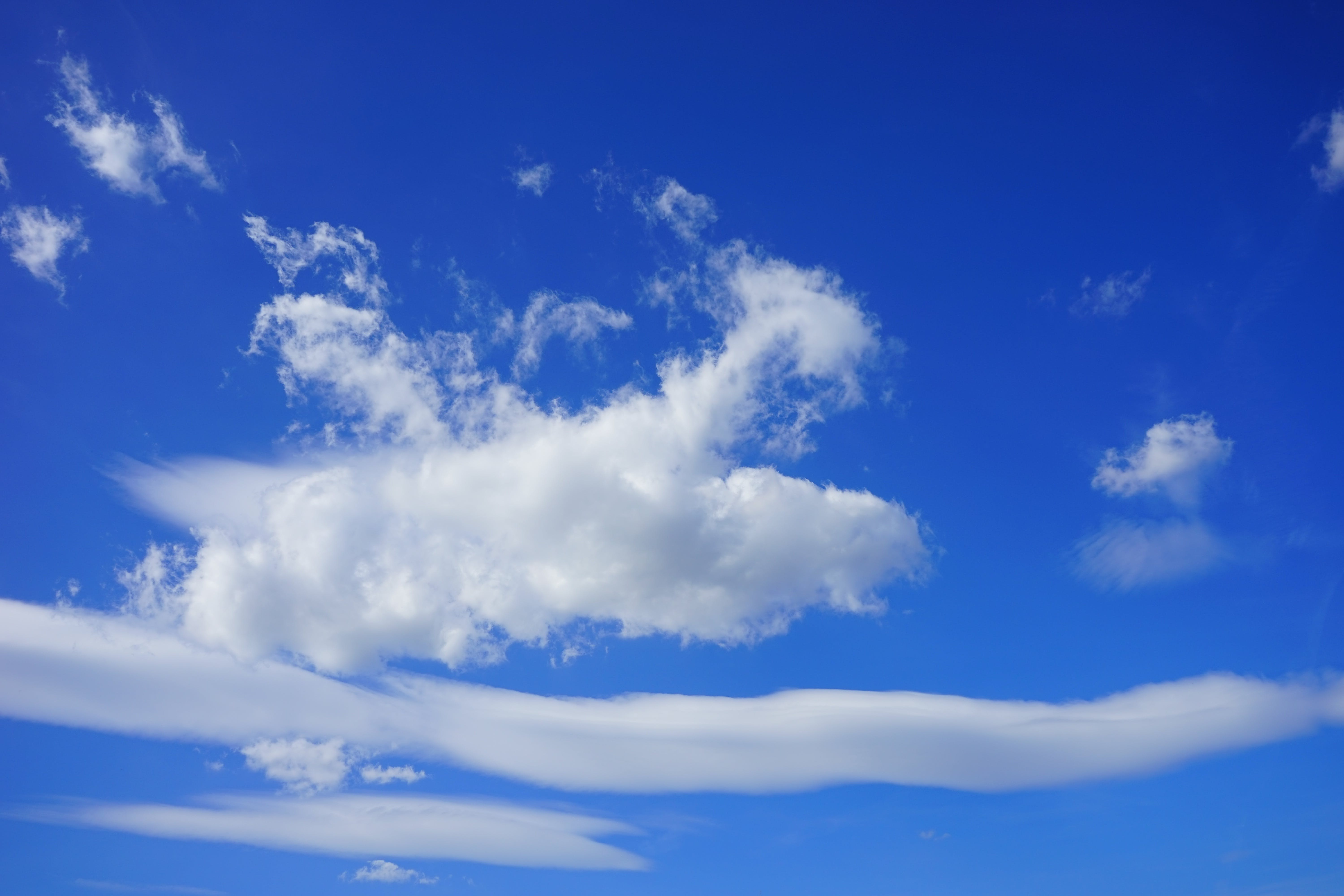 Free stock photo of above the clouds, azur, beautiful day, blue