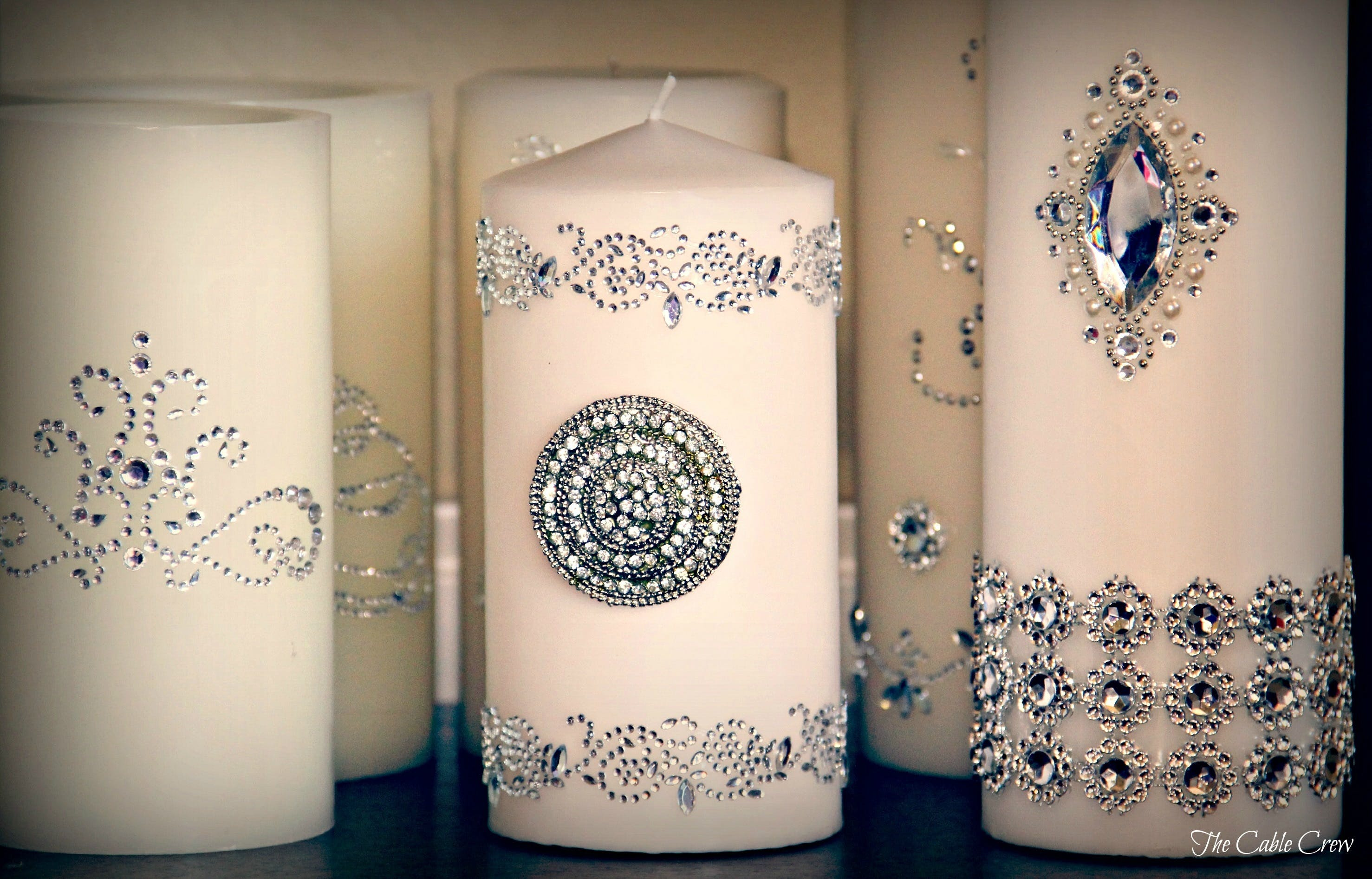 White Pillar Candle