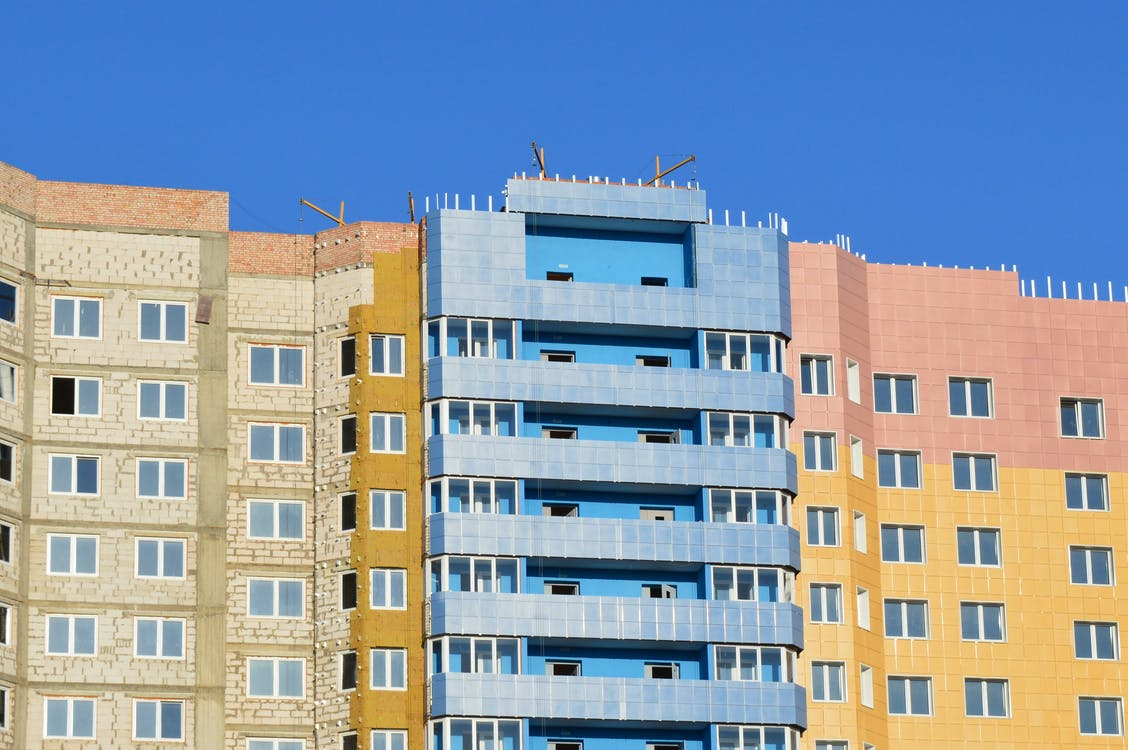 Brown and Blue High-rise Building