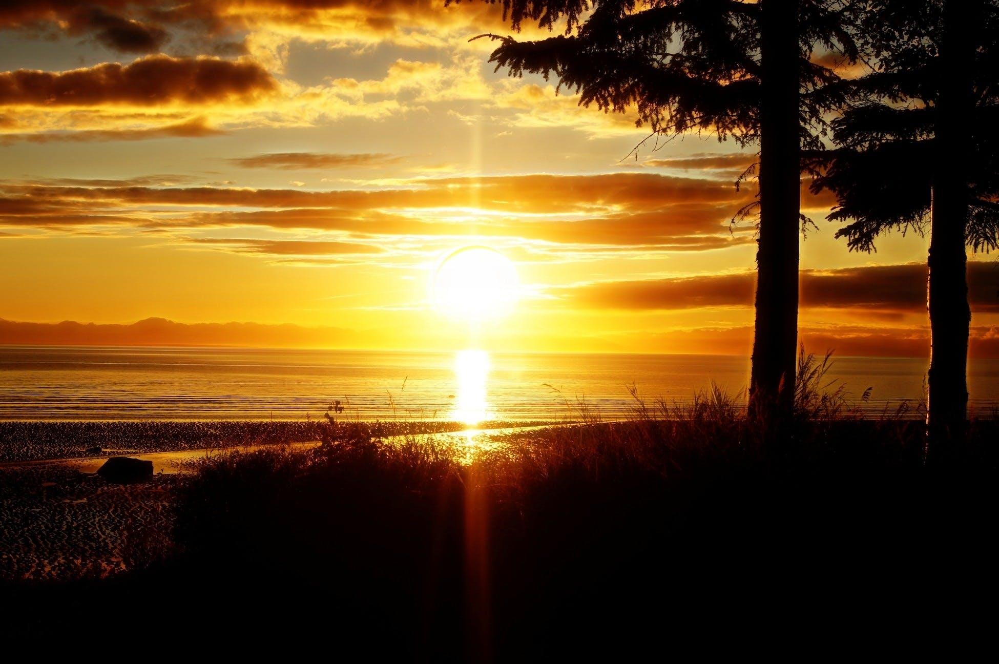 Základová fotografie zdarma na téma moře, obloha, oceán, oranžová