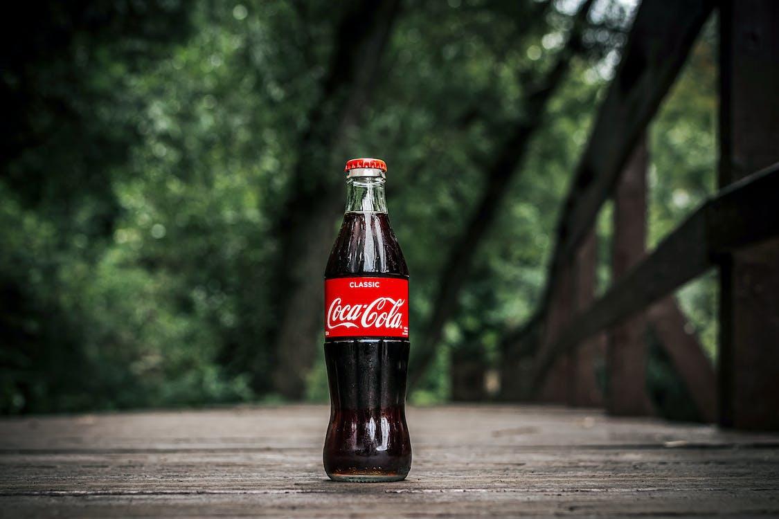 Close-Up Photo of Coca-cola Bottle