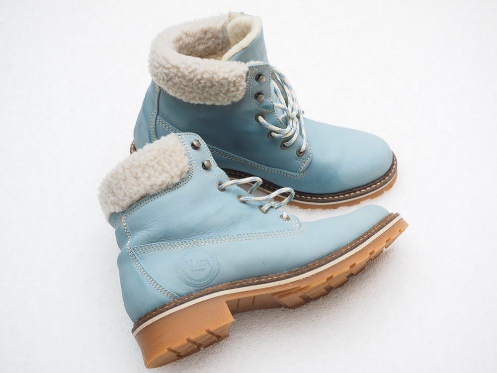Pair of Teal Timberland Work Boots