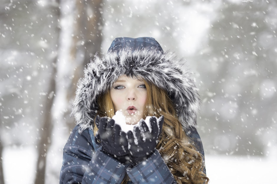 beautiful, blowing, cold