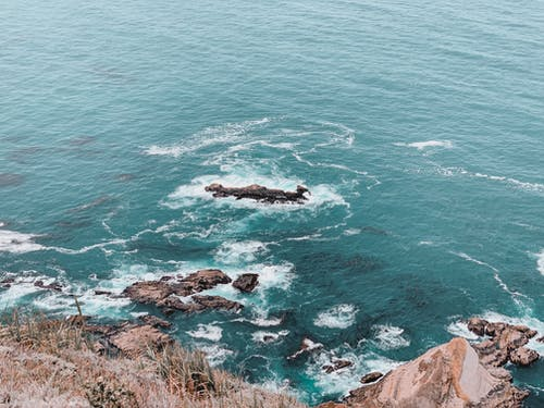 Free stock photo of california, clear, cliff, light blue
