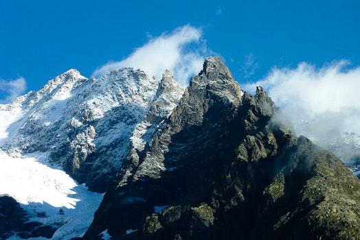 Free stock photo of cold, glacier, snow, light