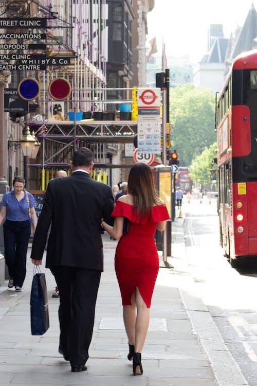 거리 사진, 런던, 빨간, 커플의 무료 스톡 사진