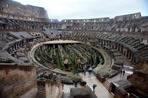 Fotobanka sbezplatnými fotkami na tému Koloseum, okná, Rím, štadión