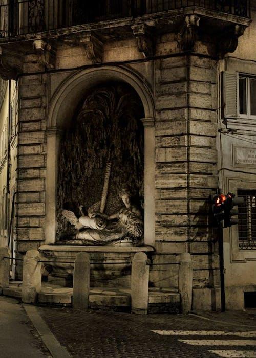 Fotobanka sbezplatnými fotkami na tému červené svetlo, Rím, sochárstvo, Taliansko