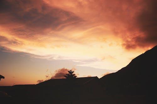 스카이 업 하늘, 일몰의 무료 스톡 사진