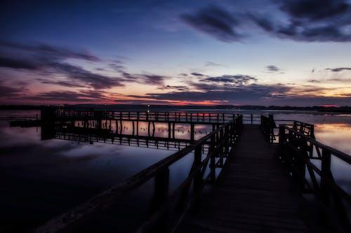 Kostnadsfri bild av bro, brygga, gryning, hav