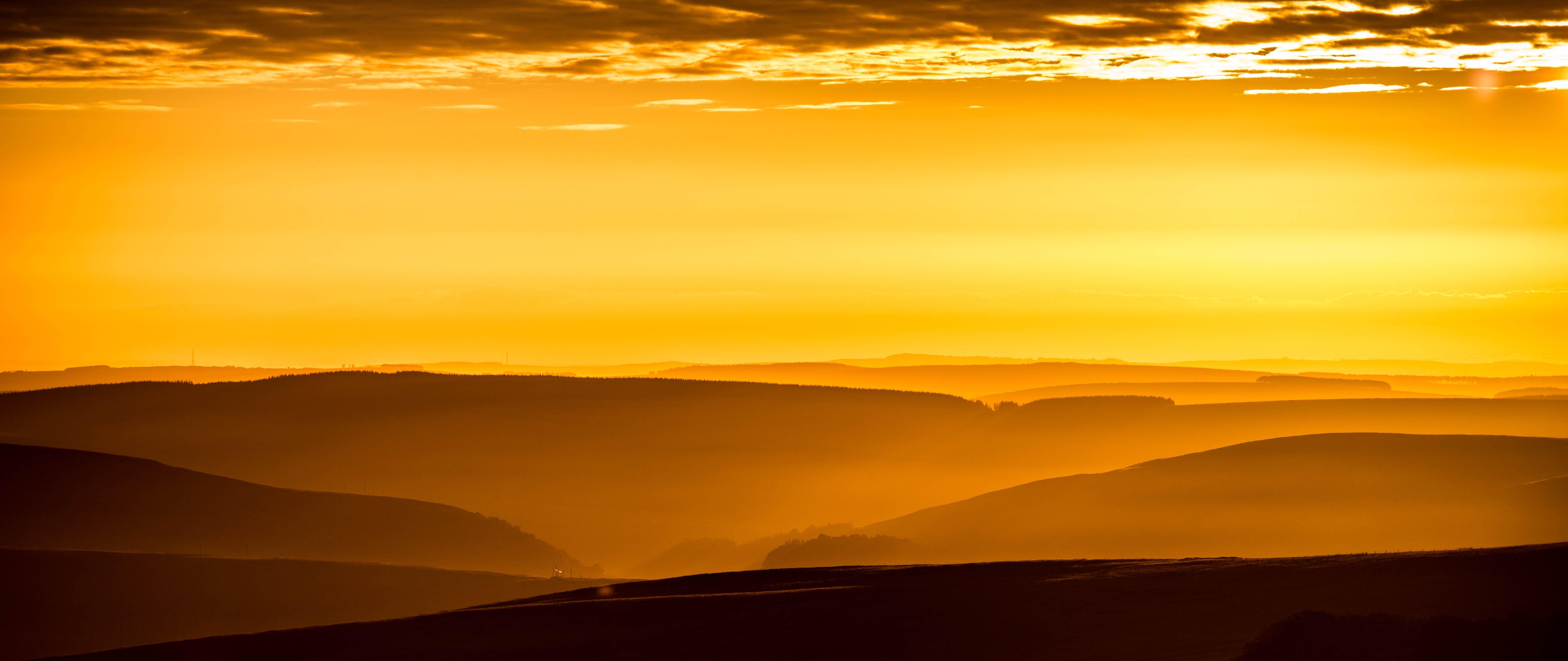dawn, desert, dusk