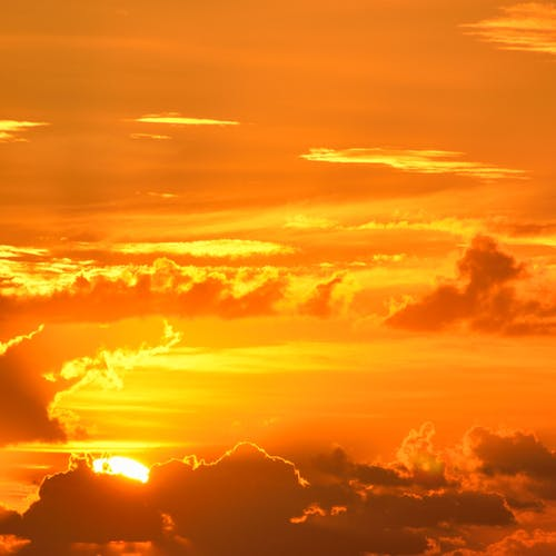 Sunrise Under Cloudy Sky Illustration 183 Free Stock Photo