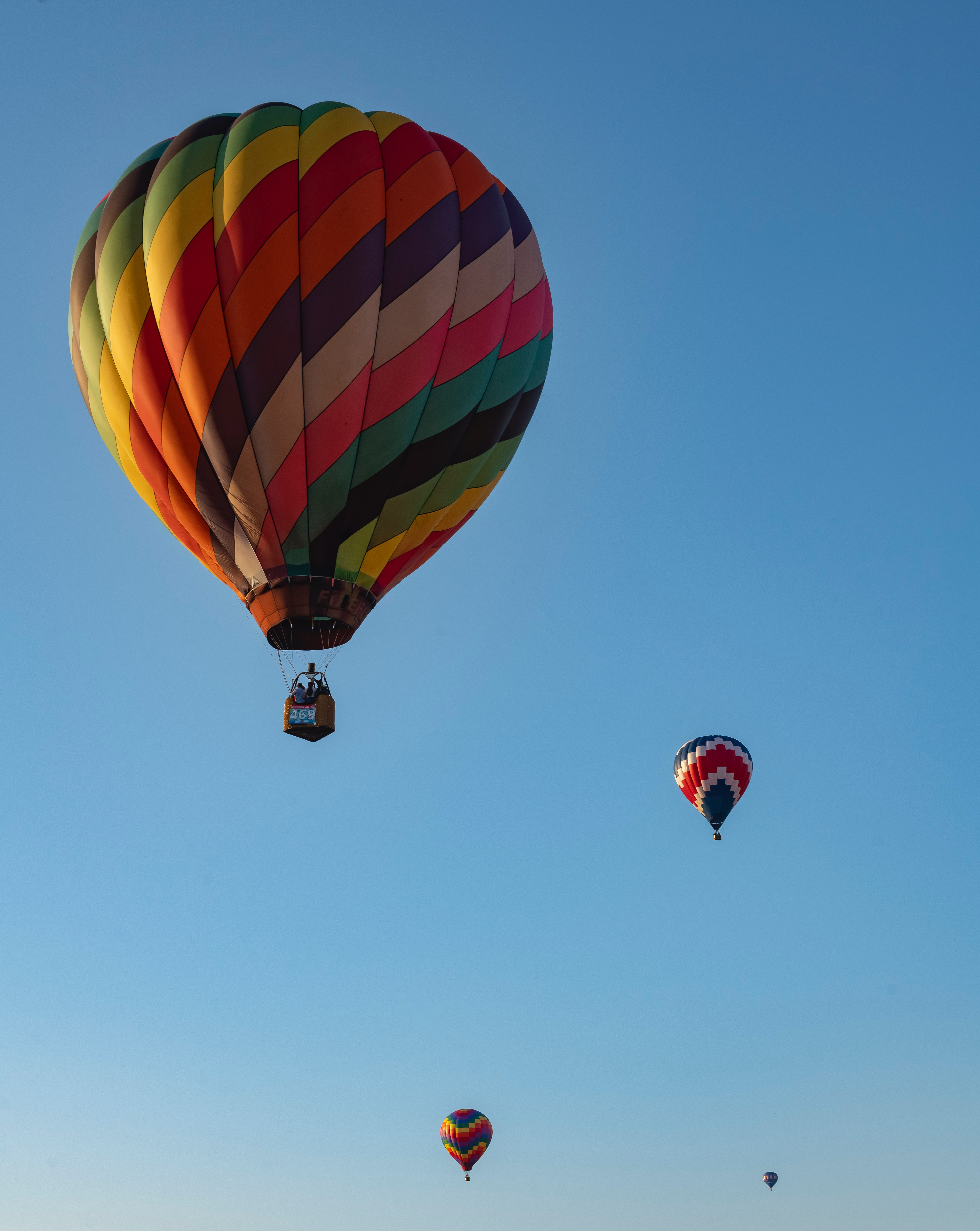 Colorful Hot Air Balloons Free Stock Photo
