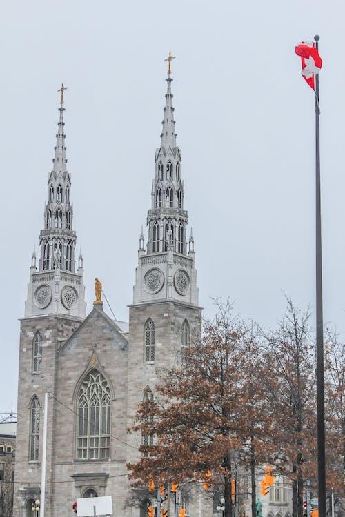 オタワ, カナダ, カナダの旗, ゴシックの無料の写真素材