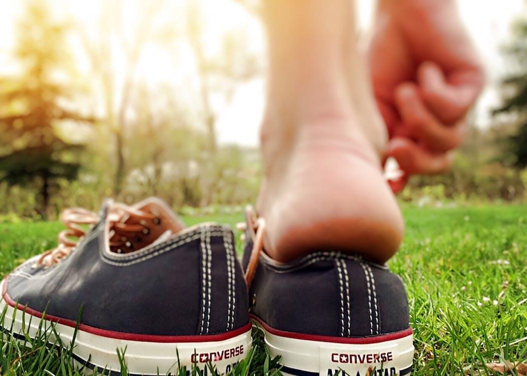 Pair of Black Converse All-star Low-top Sneakers
