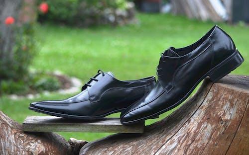 가죽, 가죽 신발, 검은색, 목조의 무료 스톡 사진