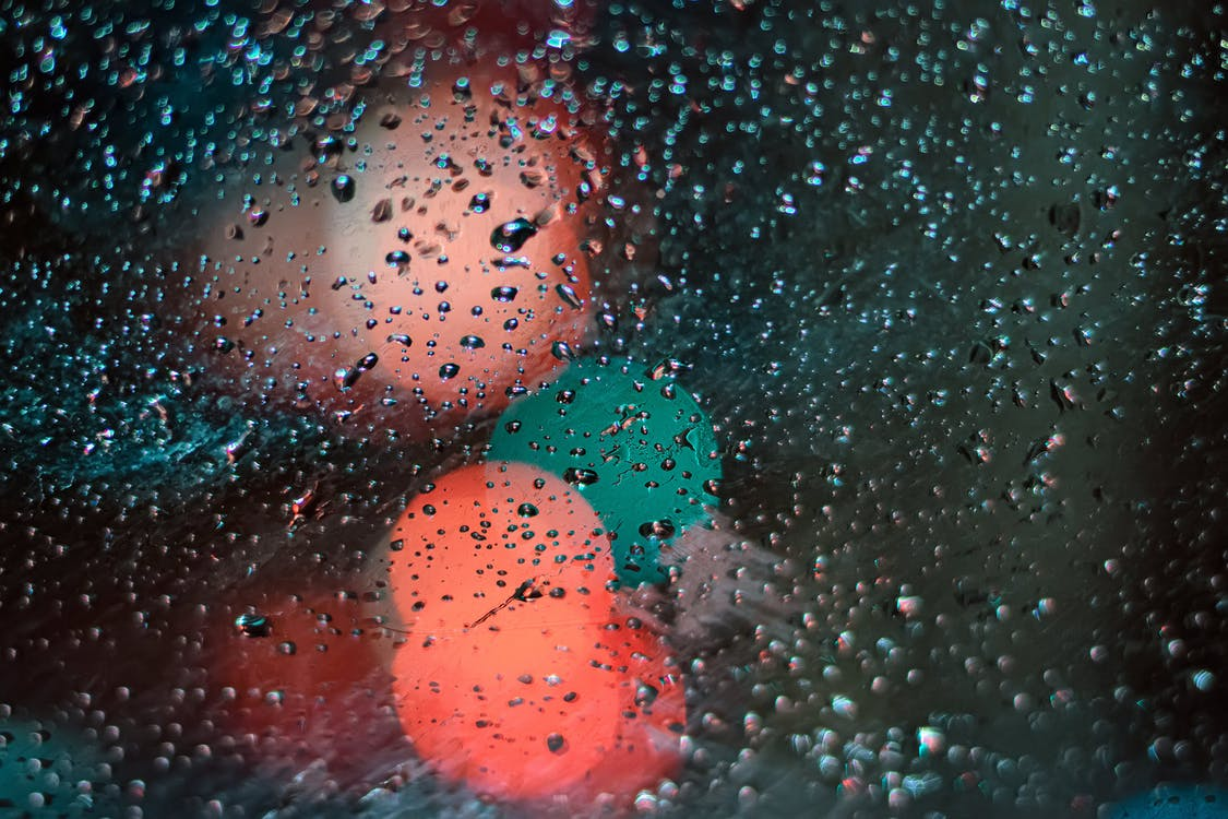glass with waterdrops