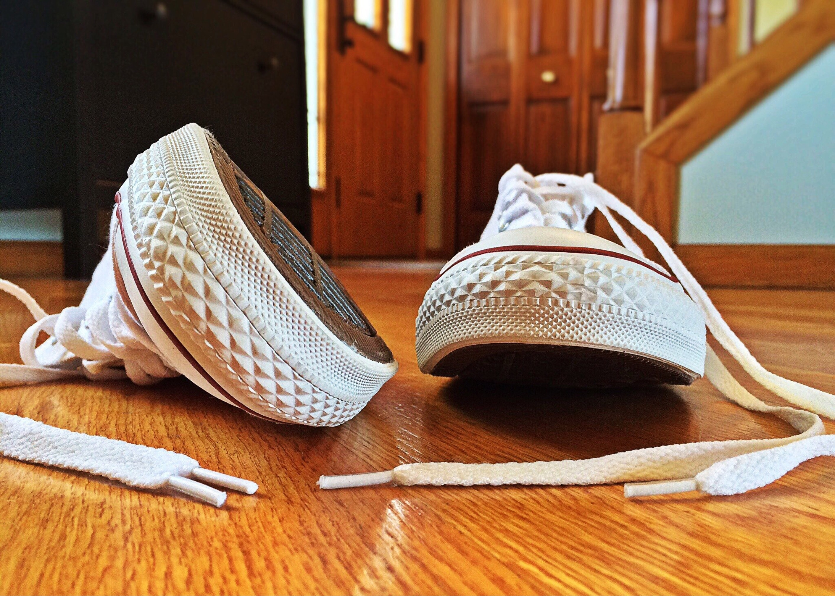 Person Showing Its Feet Wearing White Sneakers 183 Free