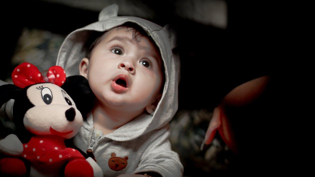 50 mm, Babylegetøj, barndom