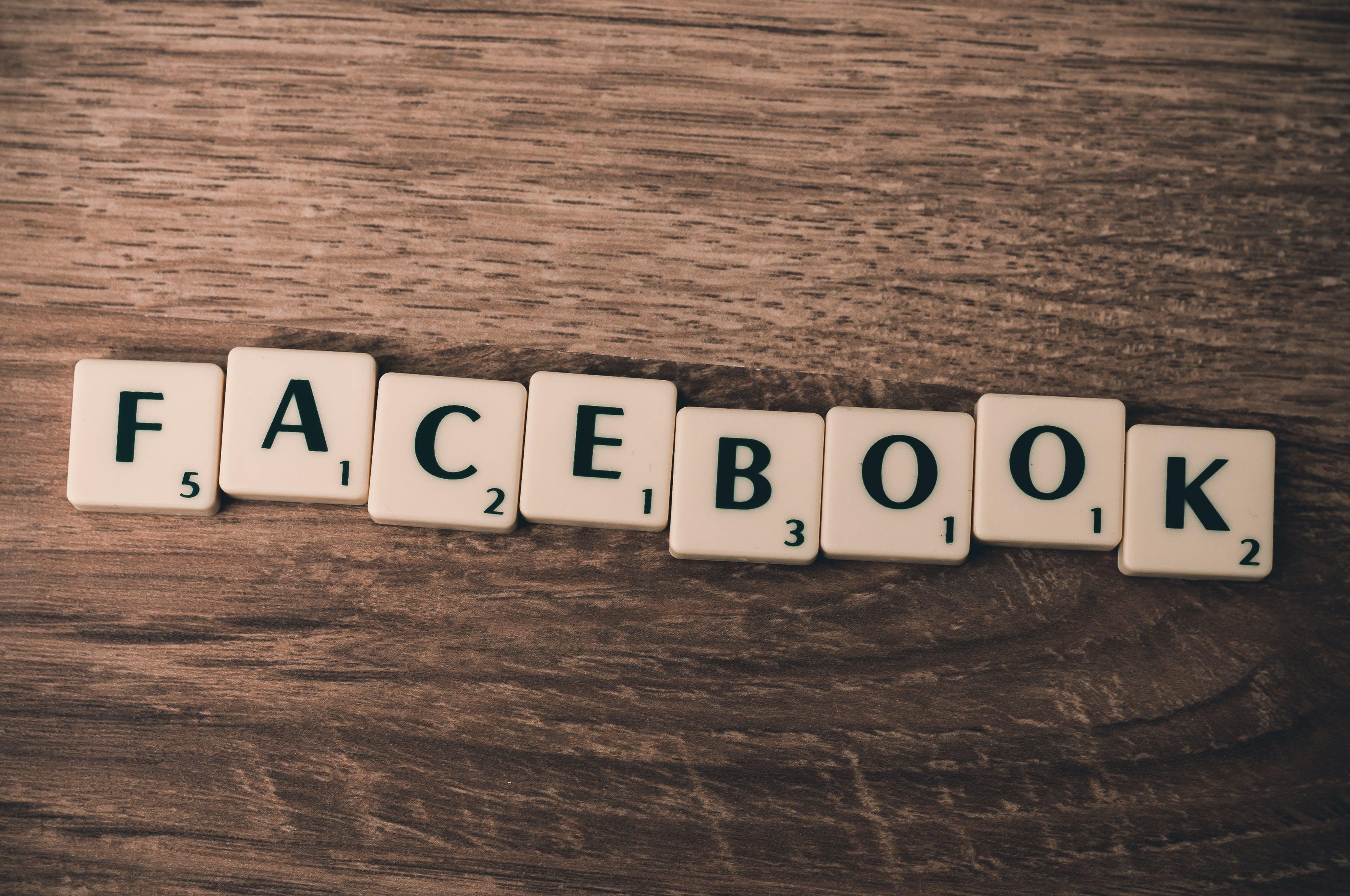 White Facebook Scramble Pieces