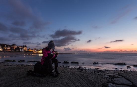 Free stock photo of cold, light, sea, dawn