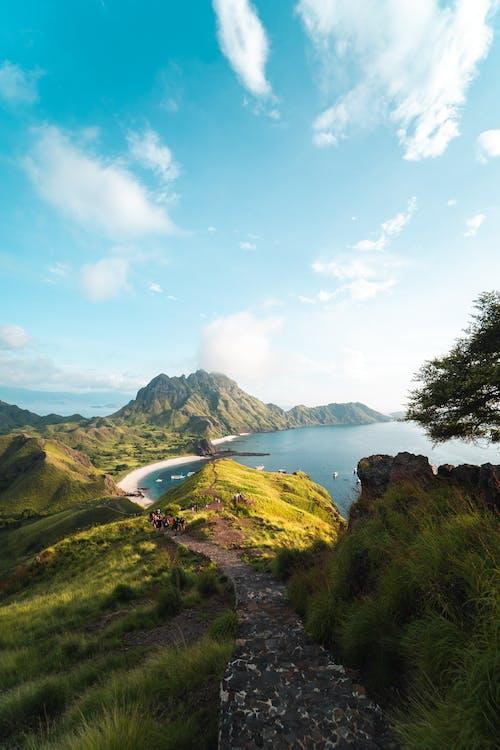 açık hava, ada, ağaç, bulutlar içeren Ücretsiz stok fotoğraf