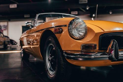 Free stock photo of car, colour, vintage, yellow