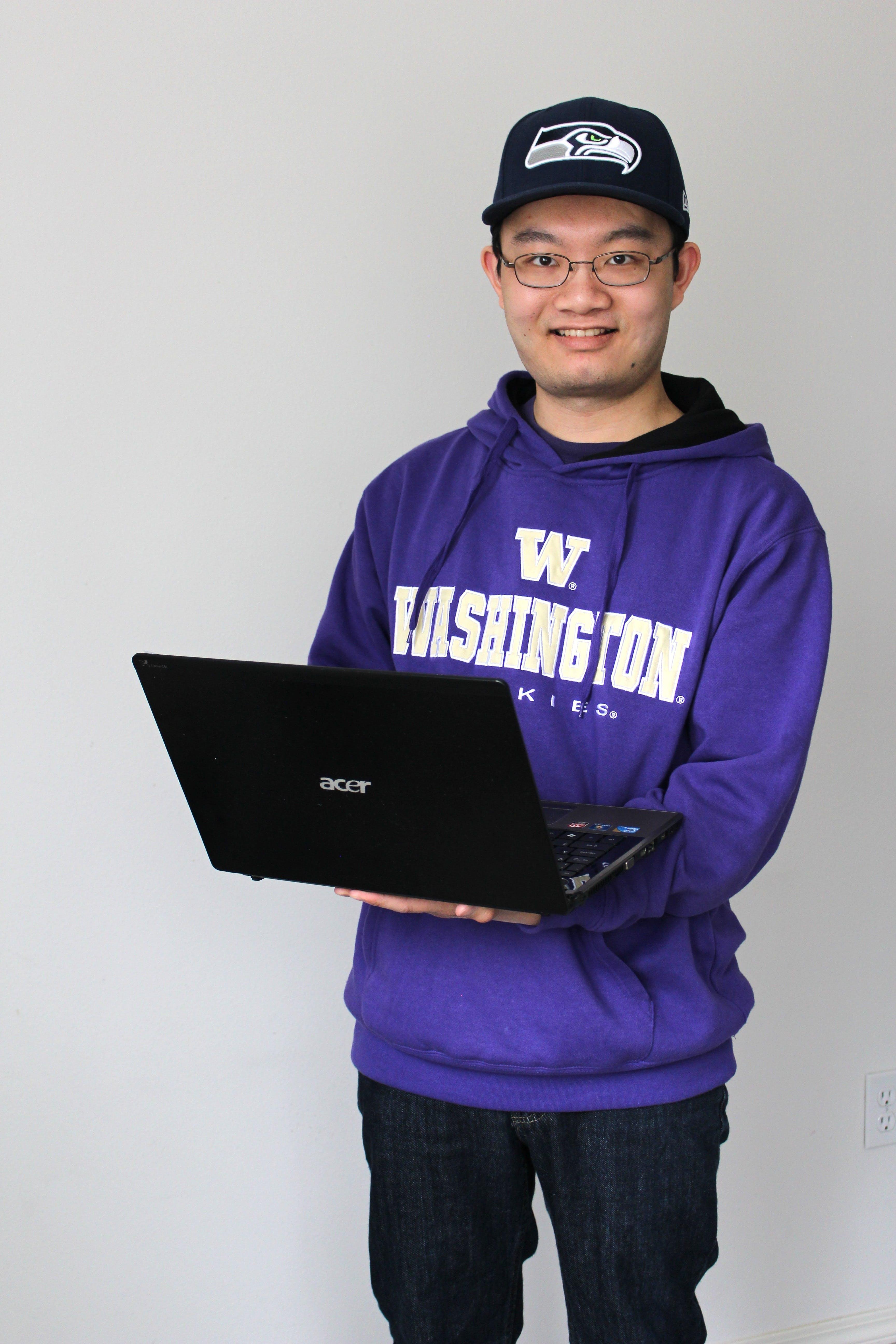 Free stock photo of man, laptop, notebook, internet