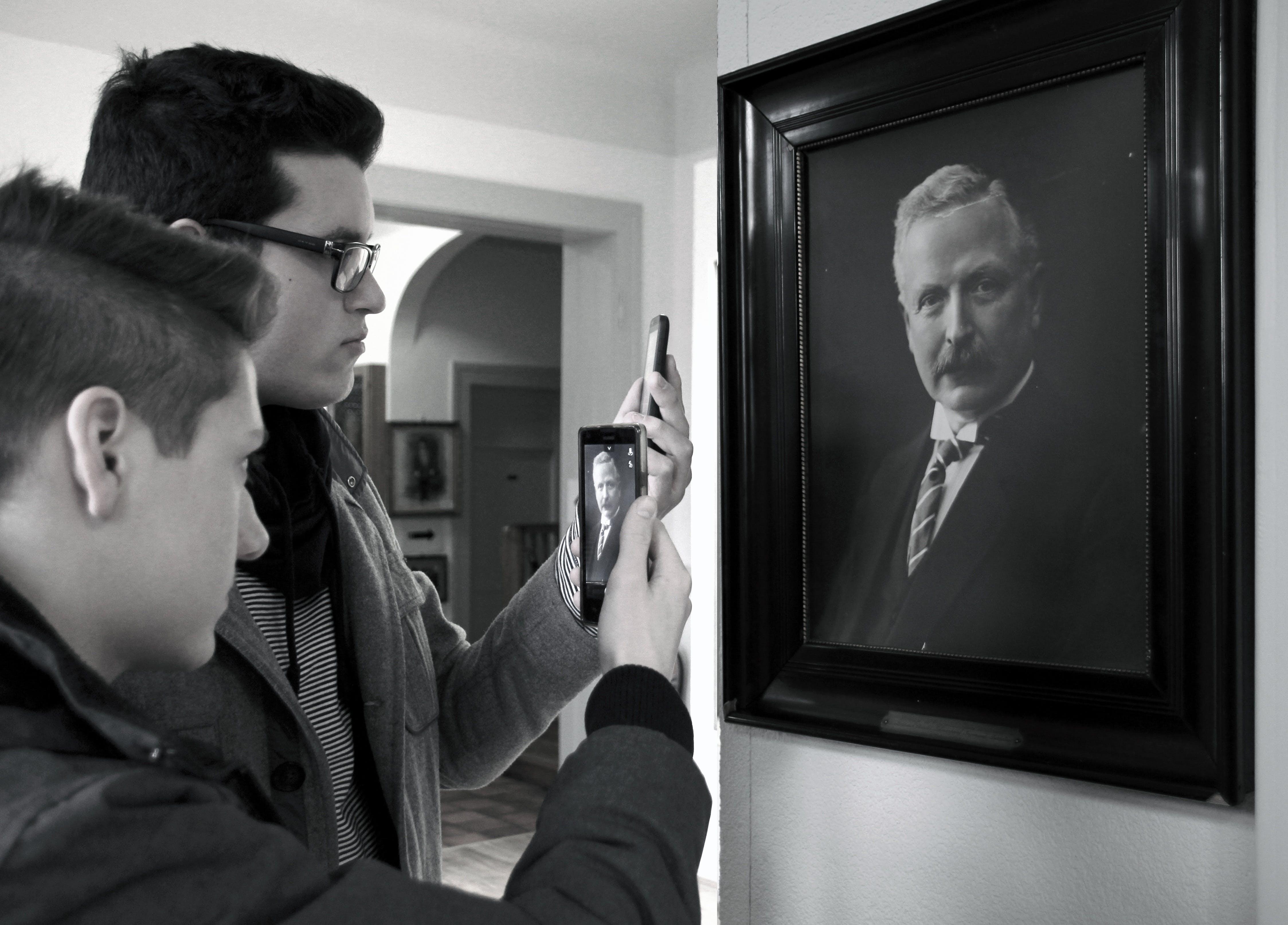 black-and-white, history, men