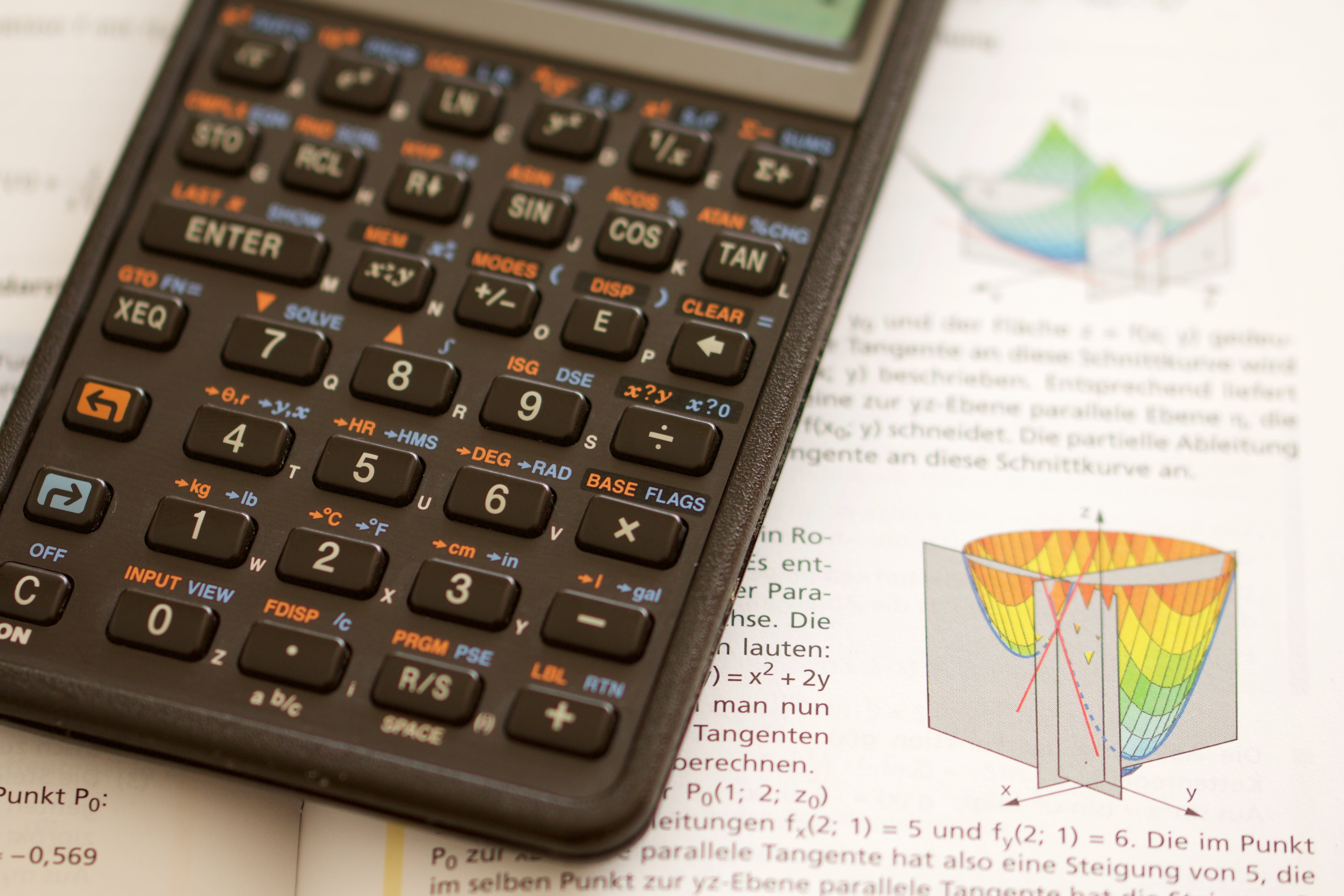 Free stock photo of mathematics, school, calculator, study