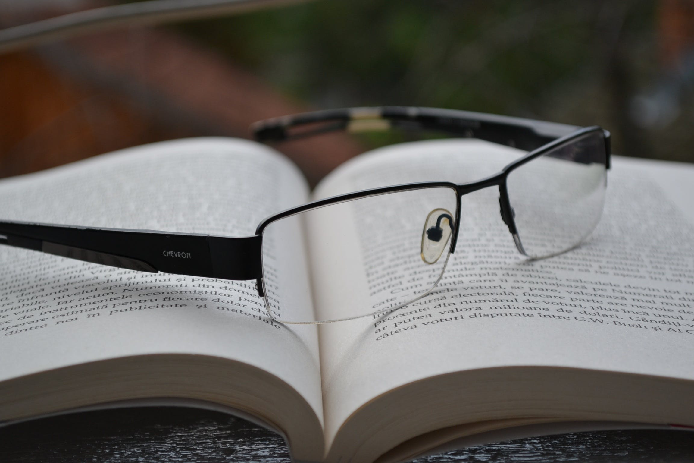 Free stock photo of school, glasses, research, book