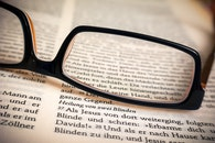 eyewear, book, paper
