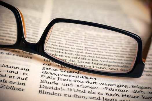 Free stock photo of eyewear, book, paper, text