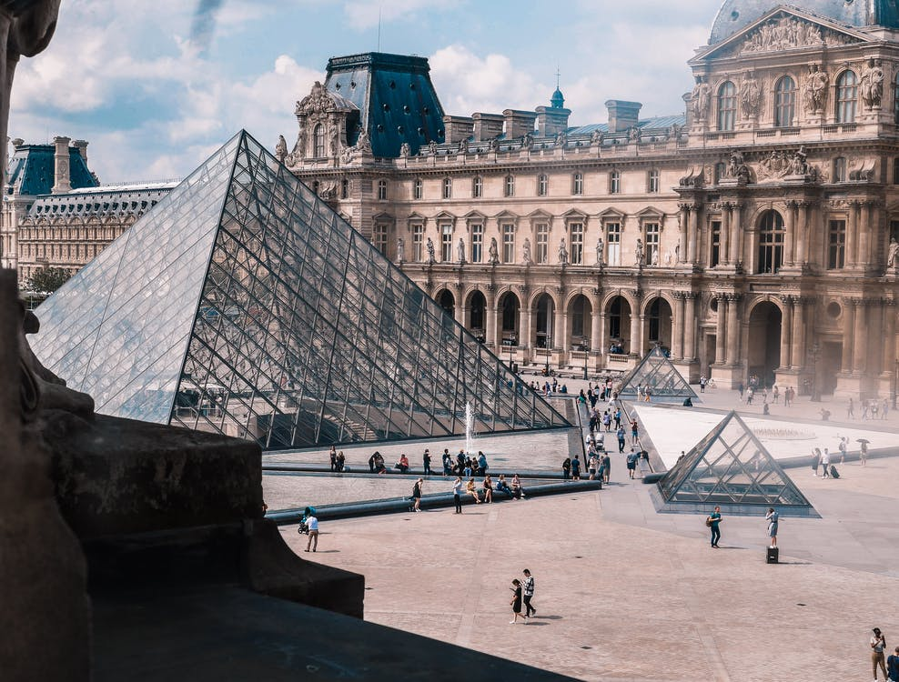Photo of The Louvre Museum in Paris, France