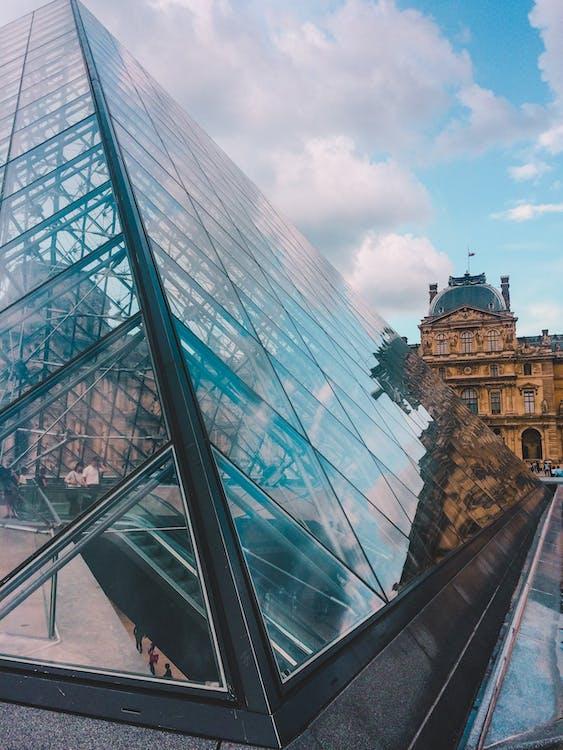 arquitectura, louvre, pariisi