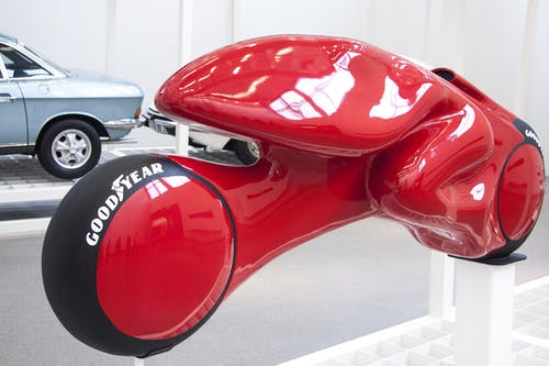 Red Concept Motorcycle