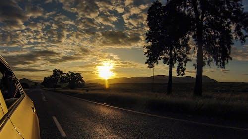 Foto profissional grátis de lindo pôr do sol