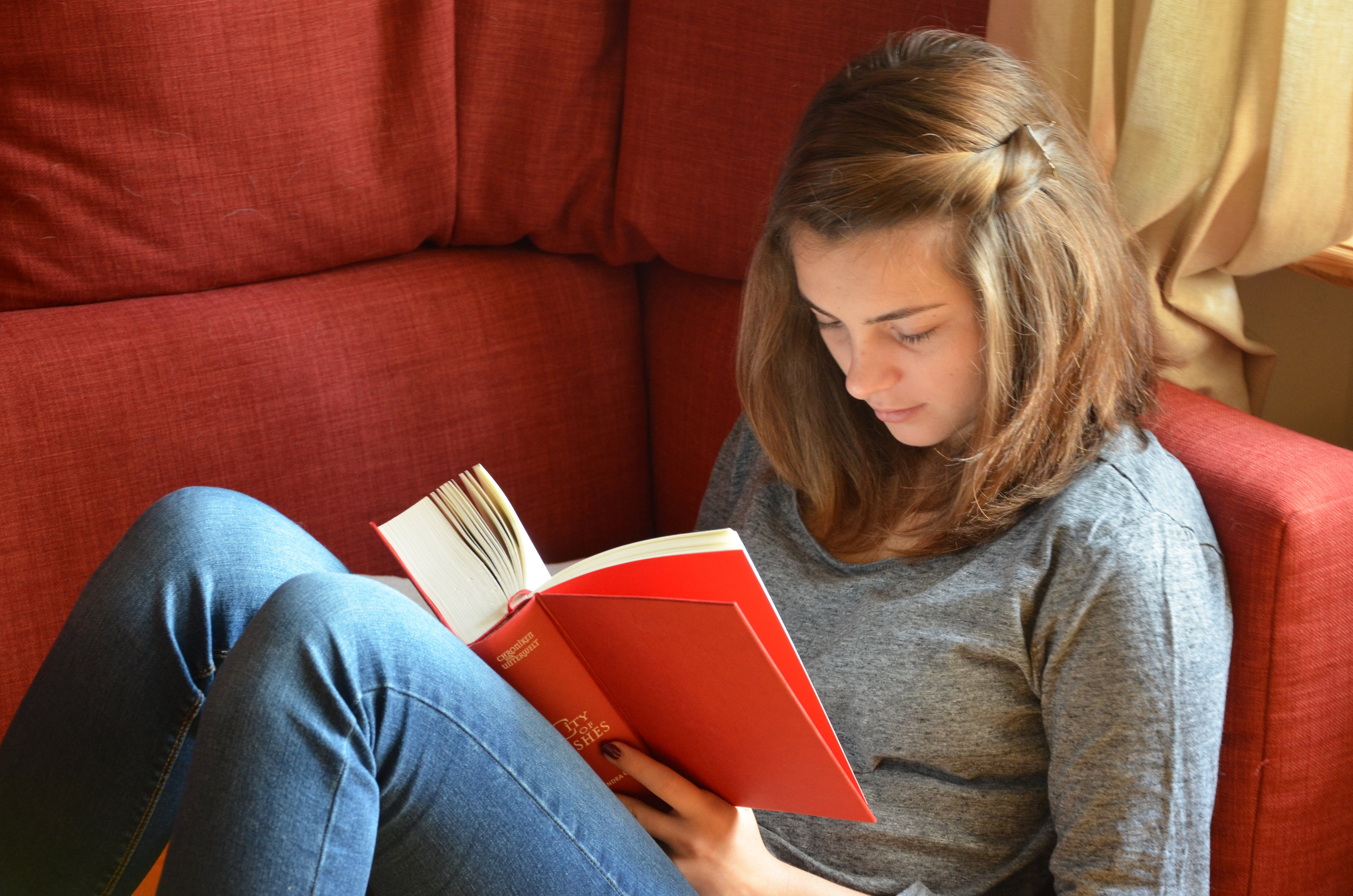 Free stock photo of girl, student, rest, book