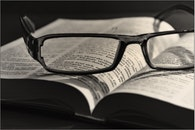 black-and-white, eyewear, book