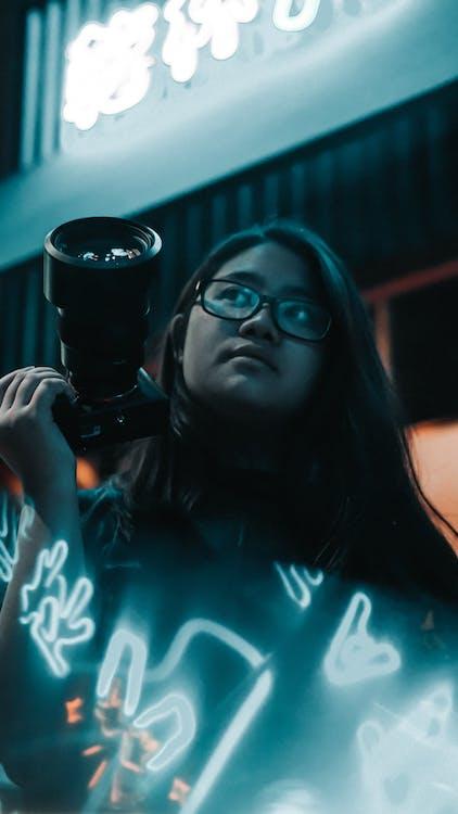 dioptrické okuliare, fotoaparát, kamera