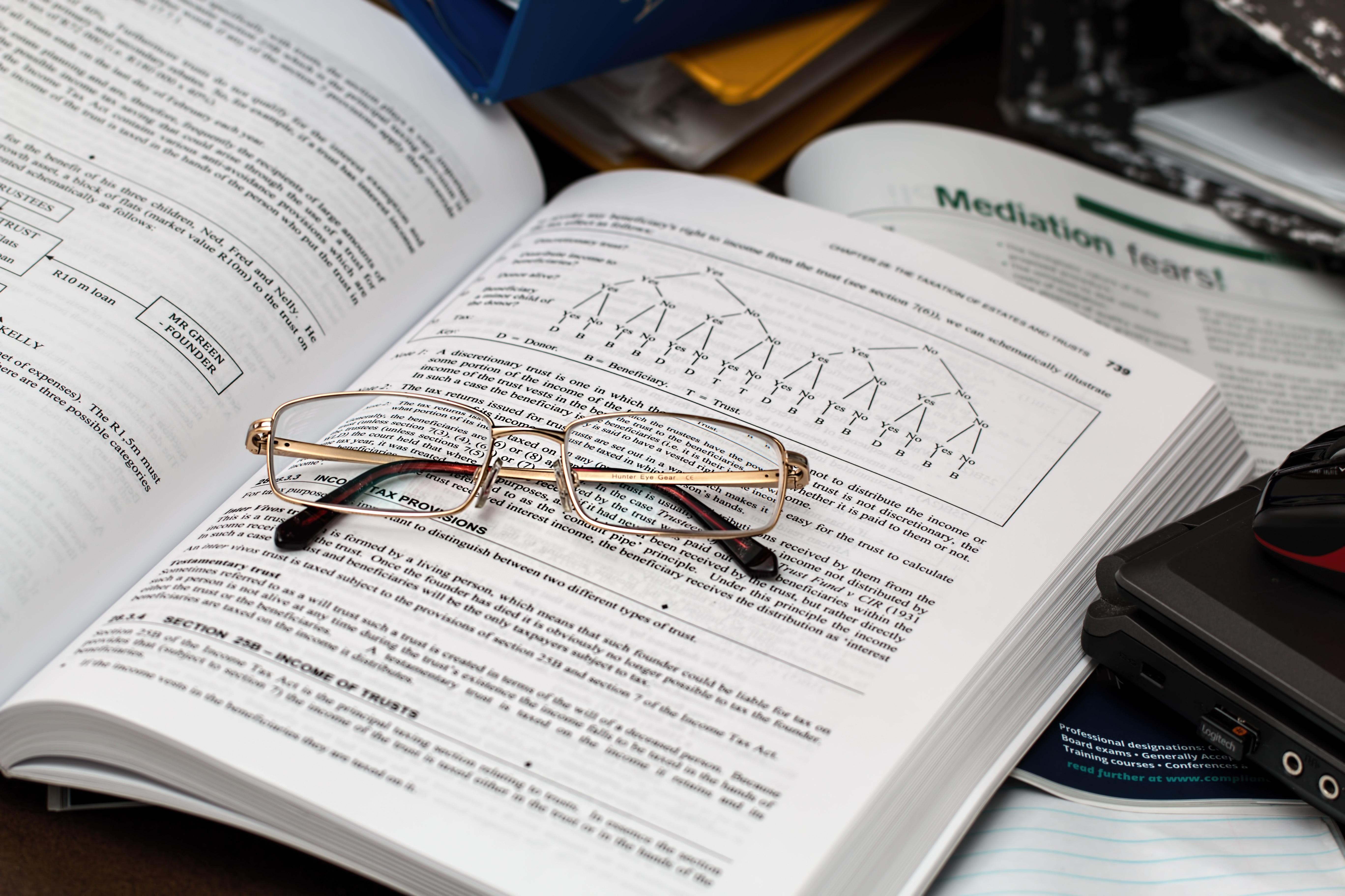 Free stock photo of books, writing, school, business