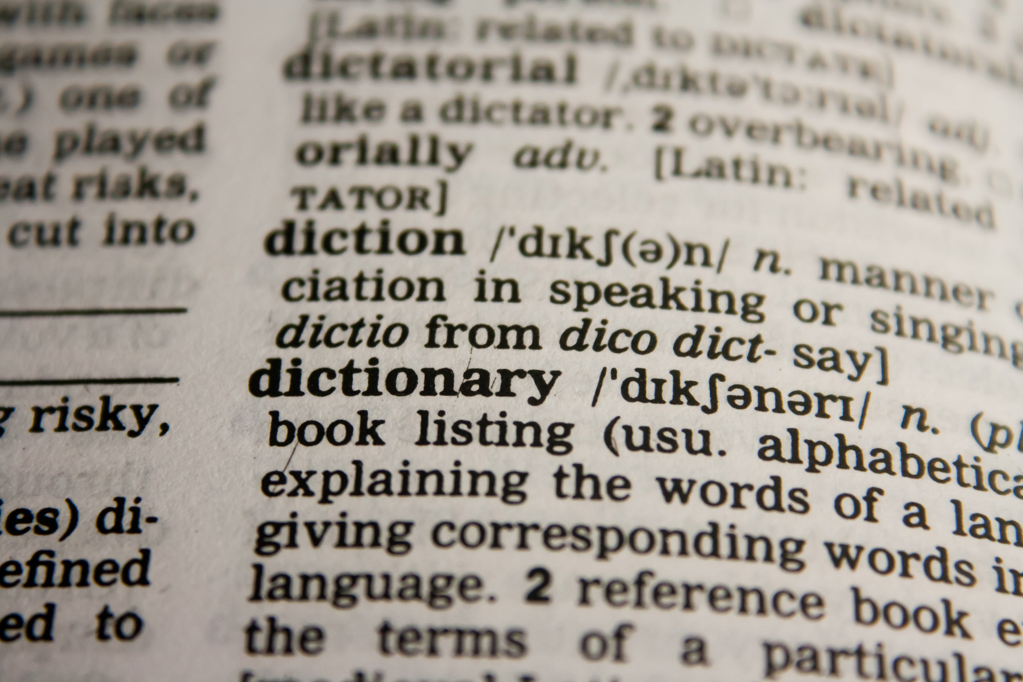 Dictionary Text in Bokeh Effect