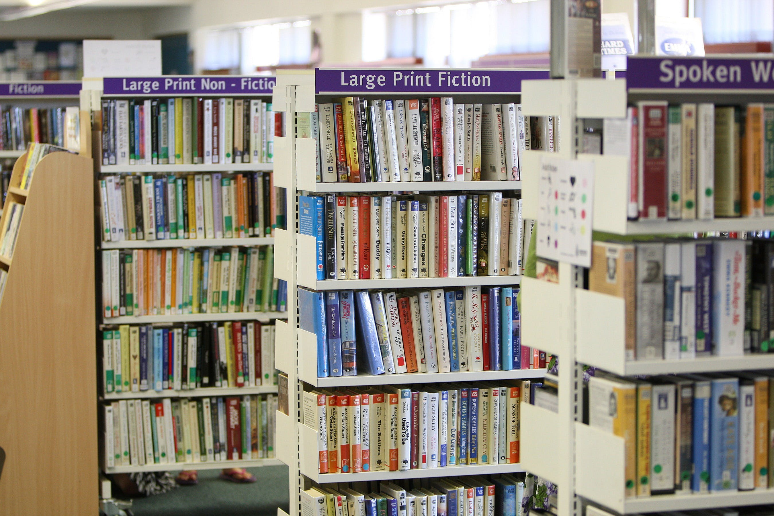 Piled Books in Library