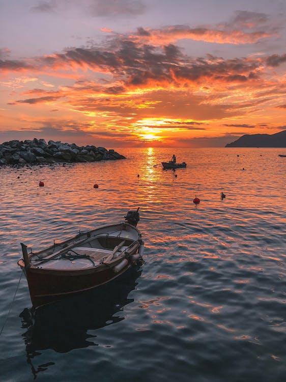 avond, boten, dageraad