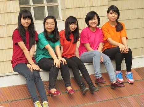 Free stock photo of friends, girl, students, asia