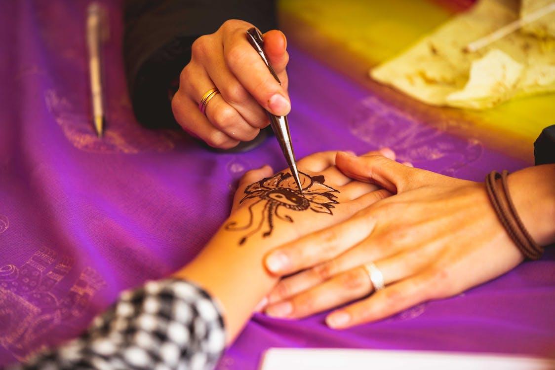 design, grafický, henna