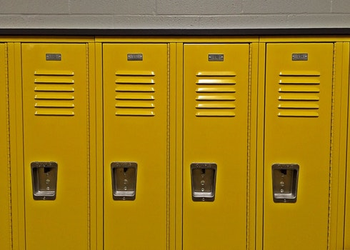 Free stock photo of school, student, education, lockers