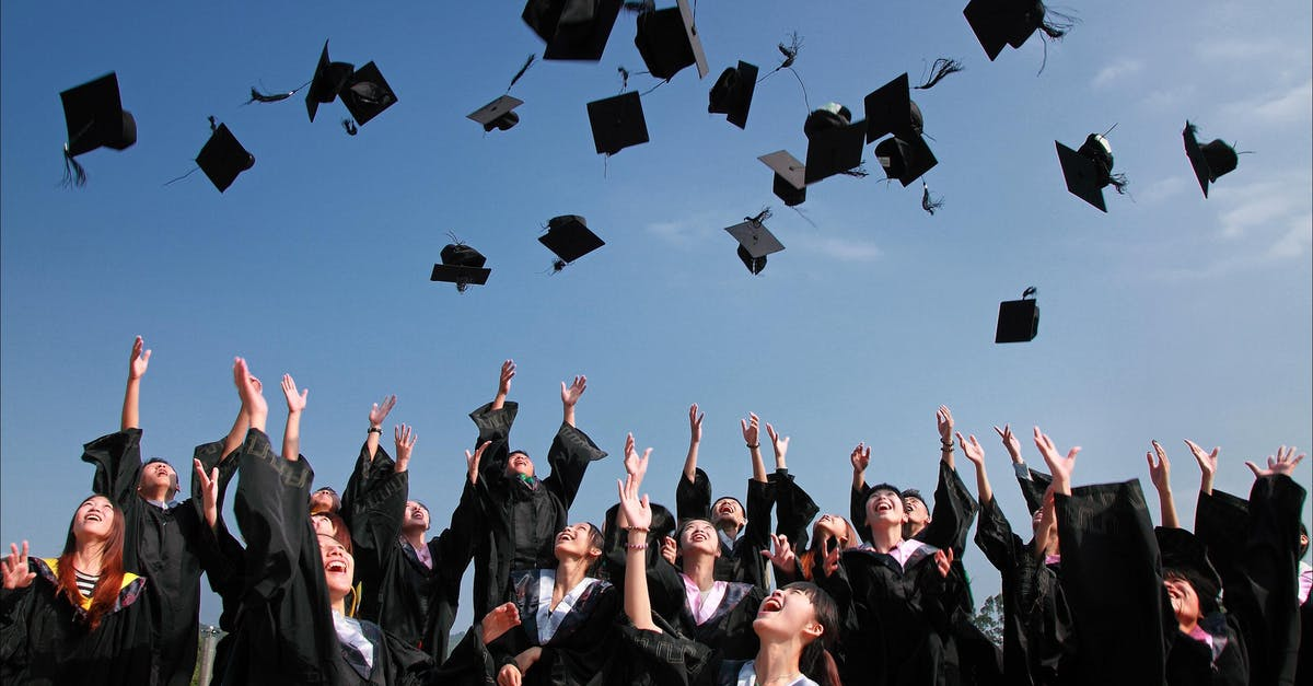 Newly Graduated People Wearing Black Academy Gowns Throwing ...