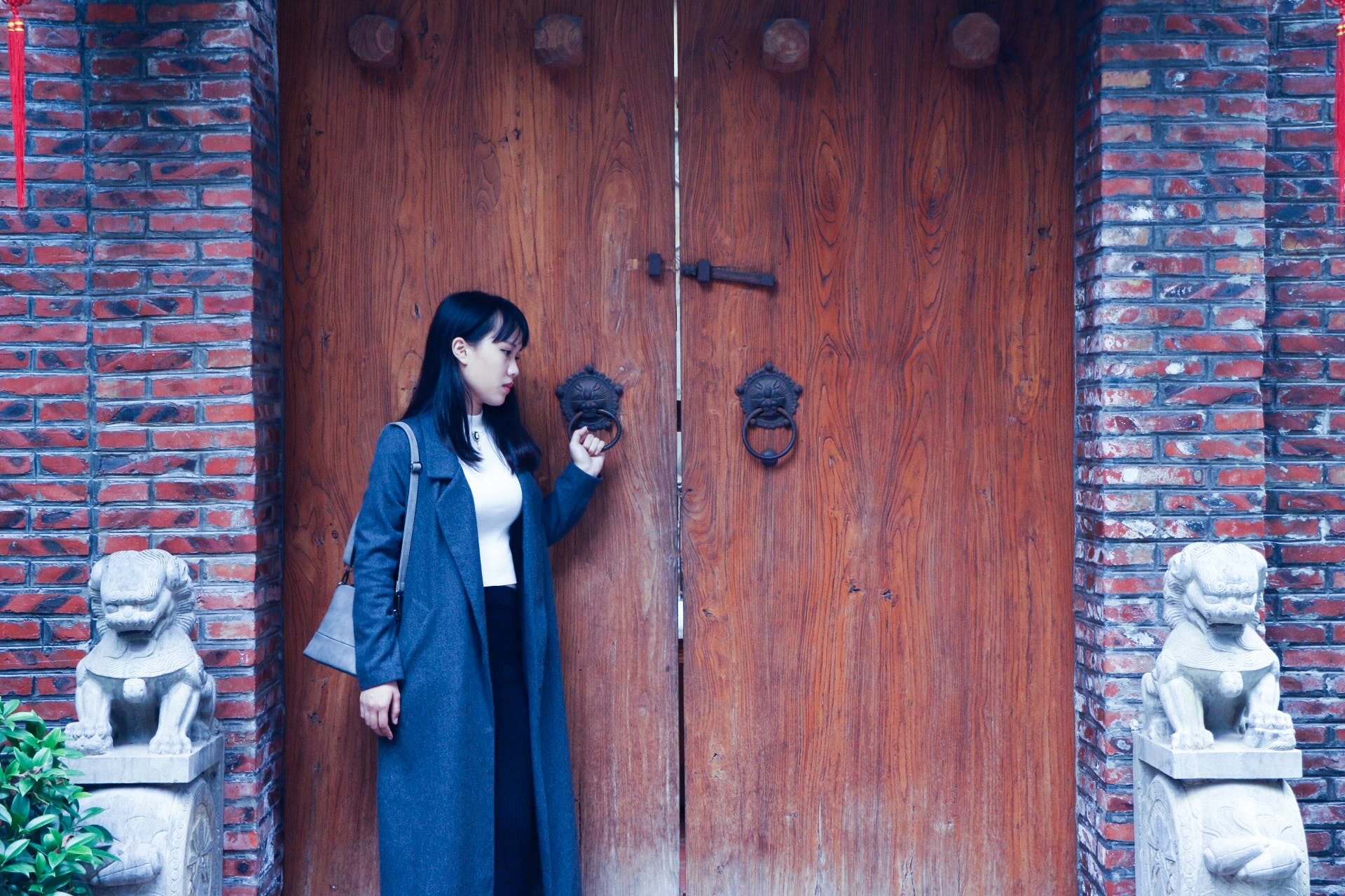Free stock photo of woman, door, traditional, entrance
