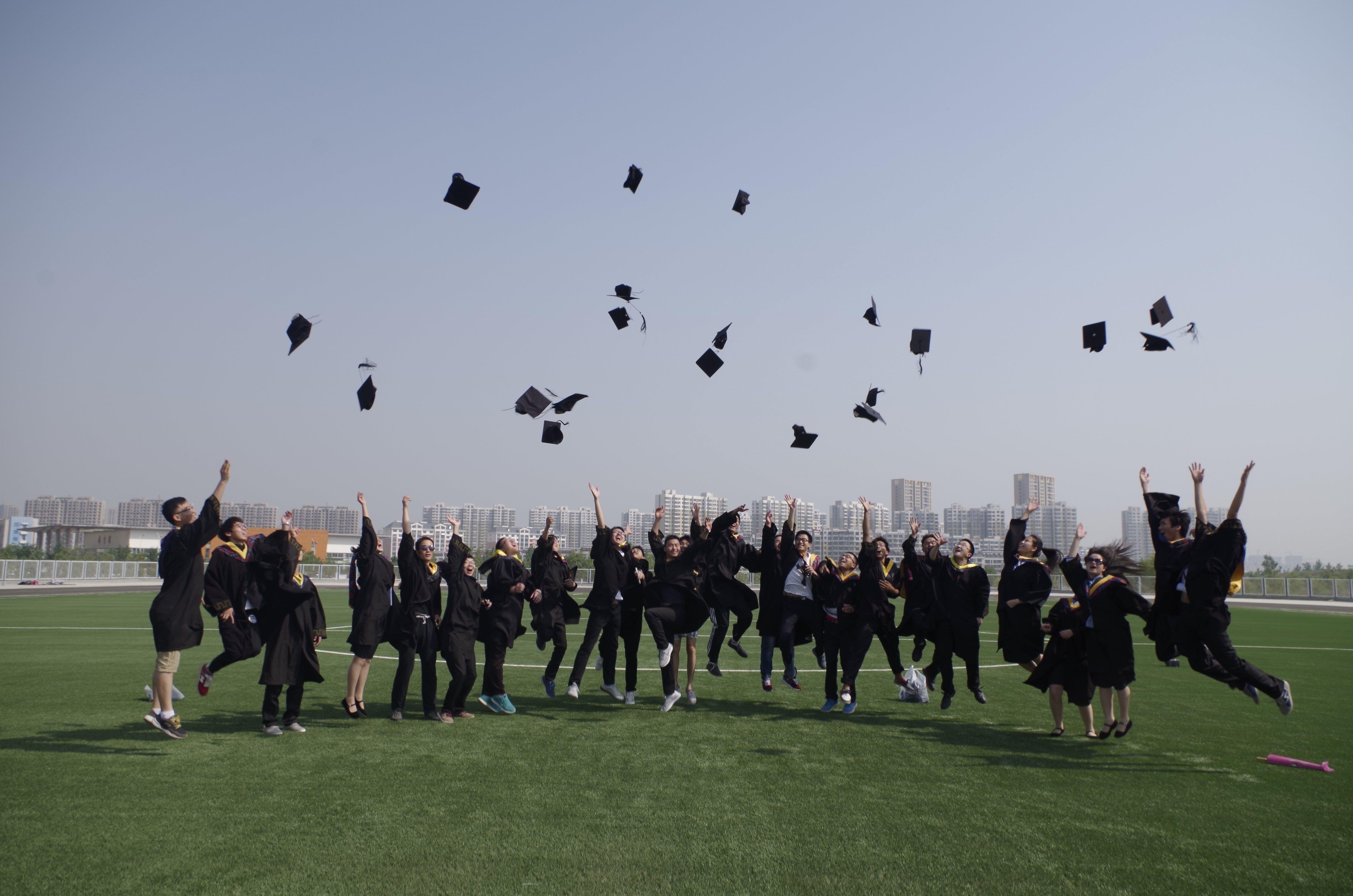 by, examination, graduation